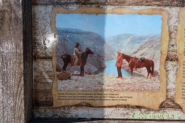 Filmszene: Winnetou und Old Surehand am Rio Pecos