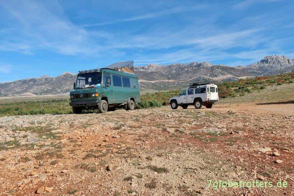 Die Aussicht auf den Rio Pecos wird gern von Geländewagen besucht