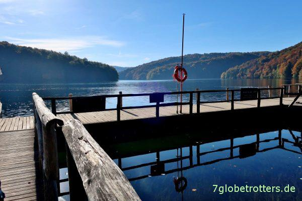 Plitvicer Seen: Unterer Fähranleger für das Boot über den Jezero Kozjak