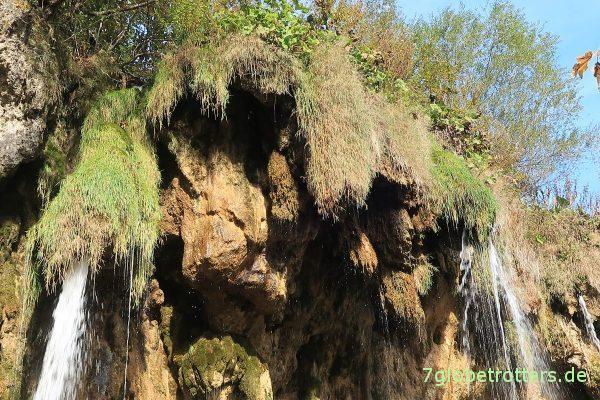 Plitvicer Seen: Travertingardinen am Wasserfall Veliki Prštavac