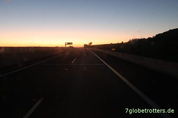 Sonnenuntergang über Deutschland