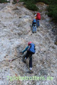 Klettern am Gamssteig zum Schlern
