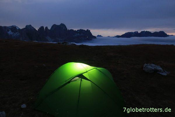 Nachtfoto in den Dolomiten (Canon PowerShot G9X II, F/4, 8 sec, ISO 1000)