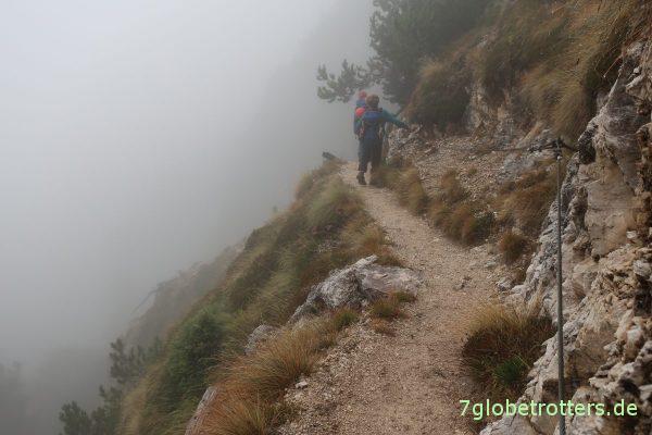 Wanderweg Bärenfalle vom Schlern nach St. Zyprian