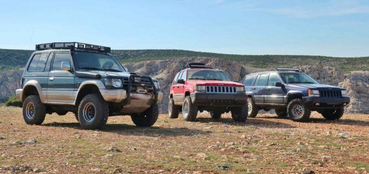 Geländewagen am Rio Pecos