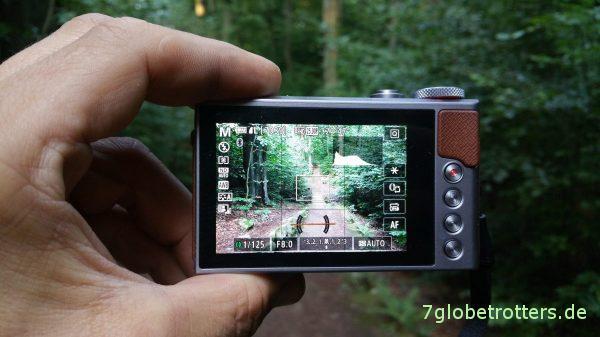 Touchbildschirm der Canon PowerShot G9X II