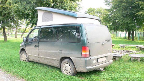 Intensiv gebrauchtes Reisemobil: Der Vito Camper auf der Ukrainetour 2006
