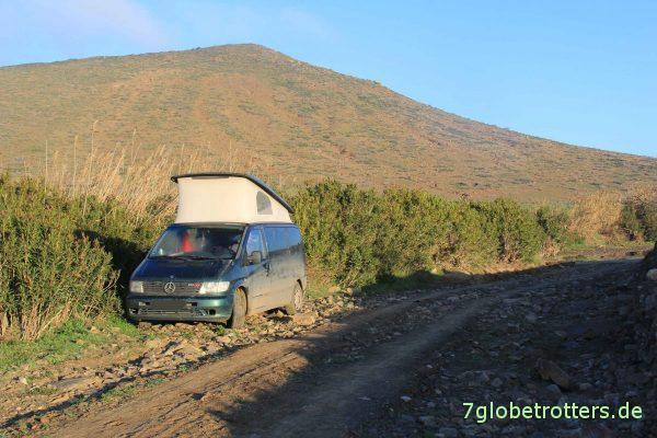 Marokko 2014: Pistenabenteuer mit dem Mercedes Vito mit Aufstelldach