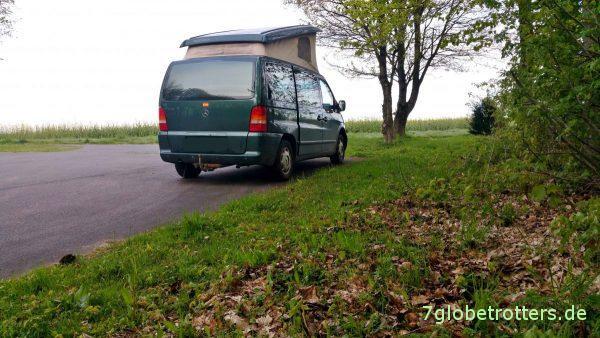 Deutschland 2017: Mercedes Vito mit Aufstelldach von Westfalia auf Dienstreise