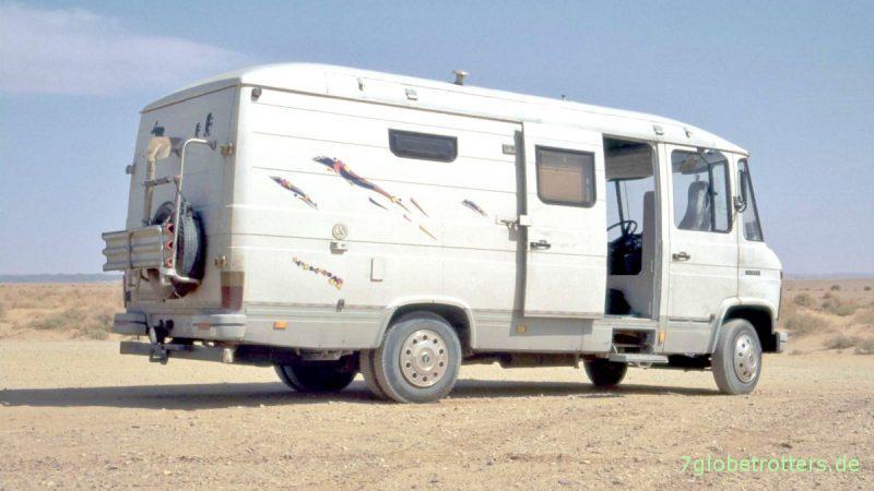Der Gelände-Bus MB 508 D in Marokko