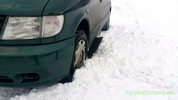 Schneebleche im Einsatz