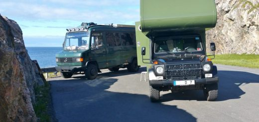 Mercedes G-Klasse als Expeditionsmobil mit Alkoven