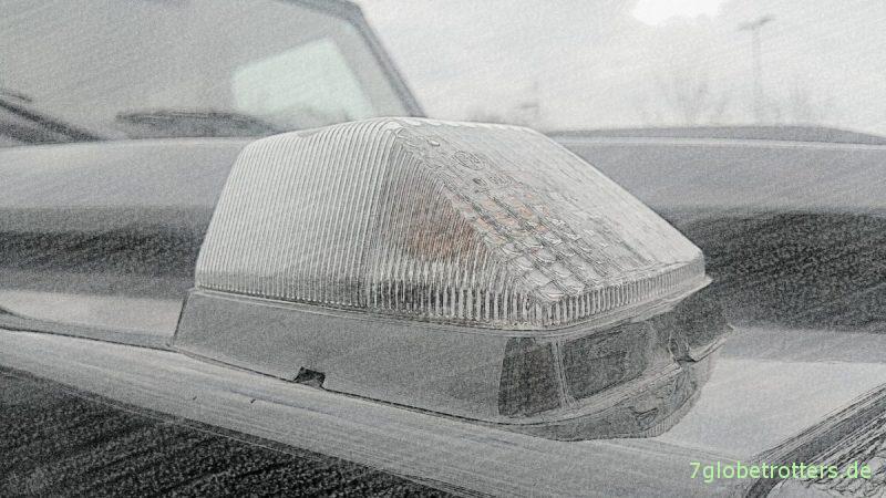 Auch der neue Mercedes W464 der G-Klasse hat Aufsatzblinker