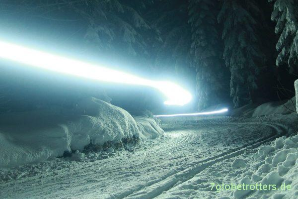 Abendliches Ski- und Rodelvergnügen