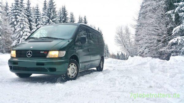 Anreise durch Tschechien mit dem guten Mercedes Vito