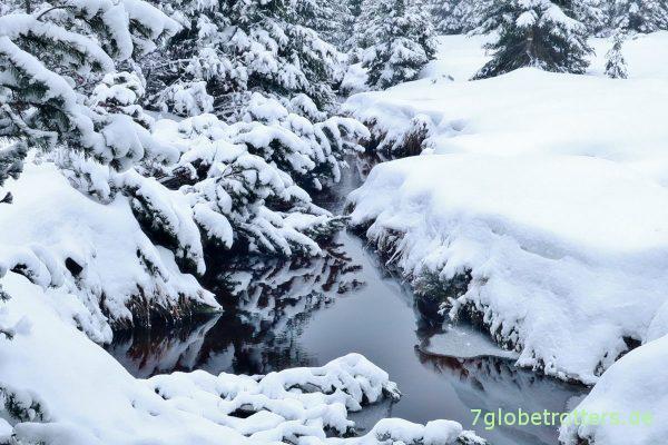 Die Schwarze Iser im Schnee