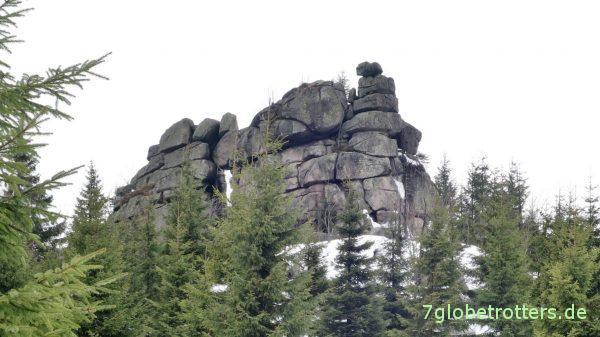Der Raubschützenfelsen im Isergebirge
