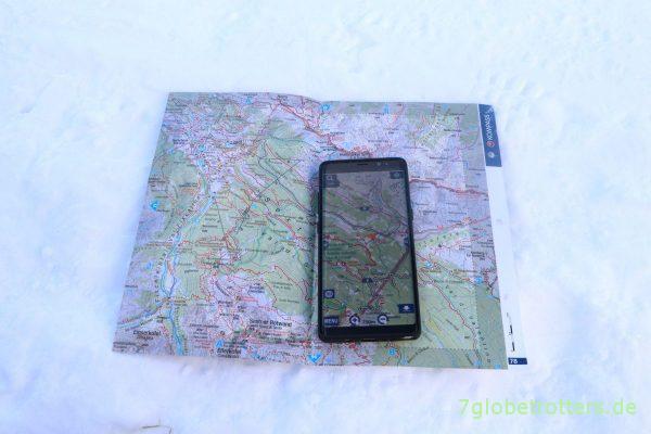 Südtirol Kompasskarte real und digital