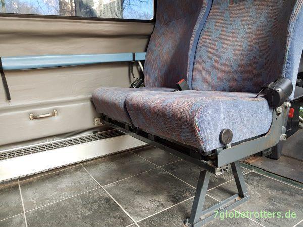 2er Sitzbank im Wohnmobil