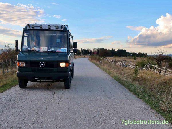 Abblendlicht einseitig ausgefallen in Bosnien