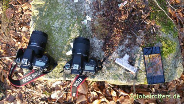 Kameravergleich im Wald