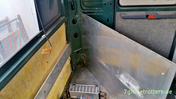 Originalbefestigung der Sitzbänke im Wohnmobil