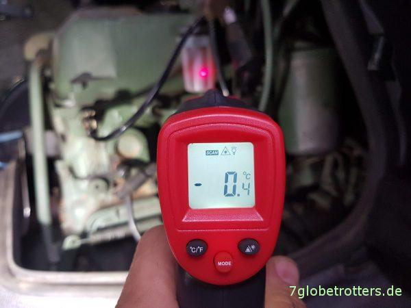 Winter am WoMo: Temperaturmessung mit dem Infrarot-Thermometer
