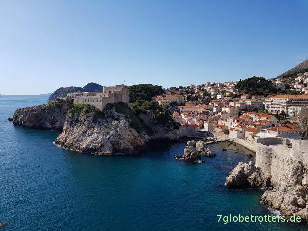 Stadtmauer um Dubrovnik. Kroatien