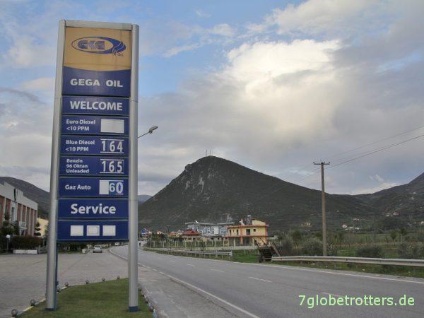 Dieselpreise in Albanien 2018