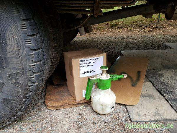 Rostschutz mit Leinöl am Wohnmobil statt Owatrol - Leinölfirnis selbst mischen