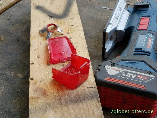 Umrissleuchte am Wohnmobil Mercedes 711 Ersatzscheibe selbst bauen