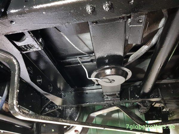 Lackaufbau Rostschutz LKW Fahrgestell mit Owatrol Brantho korrux nitrofest Brantho 3in1 Chassislack OH schwarz