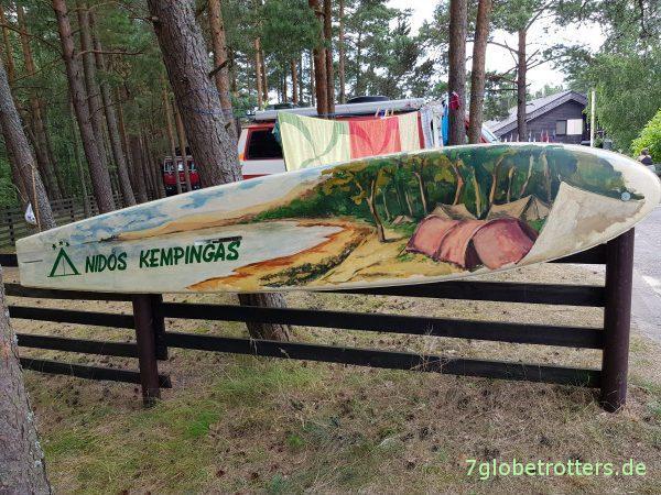 Litauen: Ciao Campingplatz auf der Kurischen Nehrung! Ciao Kurisches Haff! Ciao Nidos Kempingas!
