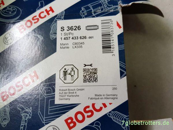 Luftfilter wechseln beim Wohnmobil auf Mercedes-Benz T2N, MB 609 D, MB 711 D, MB 814 D, Bm669