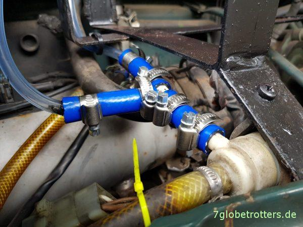 Scheibenwaschanlage überarbeiten und verbessern am Wohnmobil Mercedes MB 711 D