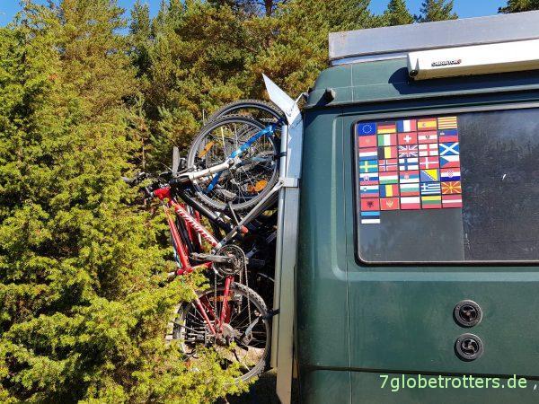 Heckträger für 6 Fahrräder am MB 711 D
