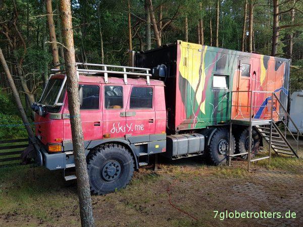 Expeditionsmobil mieten auf dem Campingplatz Nida / Kurische Nehrung