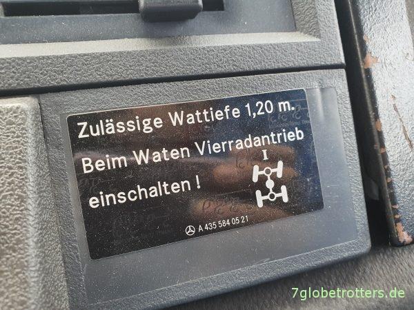 Unimog U 435 - U 1300 L der Bundeswehr kaufen, Wattiefe