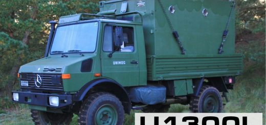Unimog U1300L Expeditionsmobil mit Shelter Zeppelin FM 1
