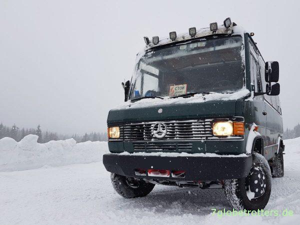 Winter im Wohnmobil: Erfahrungen und Tipps für Selbstausbauer