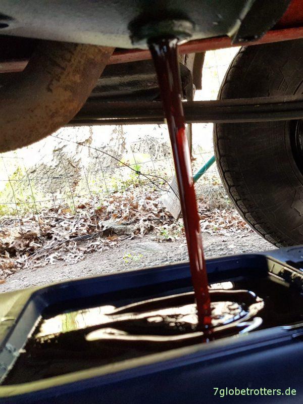 Getriebeöl wechseln am G2-27 im MB 711, richtiges Öl ATF, Schaltprobleme beim Vario vermeiden