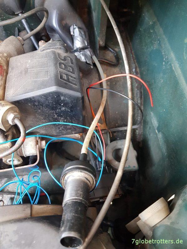 Elektrische Leuchtweitenregulierung nachrüsten beim Wohnmobil Mercedes T2/LN1, Funktion hydraulische LWR