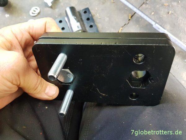 Anhängerkupplung tieferlegen am T2 LN1 Wohnmobil, Adapter 2-Loch auf 4-Loch