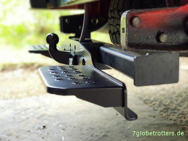 Mercedes T2N, Vario, Trittstufe am Wohnmobil über der Anhängerkupplung nachrüsten