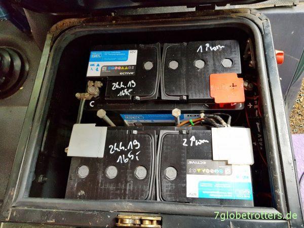 Versorgerbatterien im Wohnmobil: Blei, AGM, Gel oder LiFePo? Schaltplan ohne Mittelabgriff 12V
