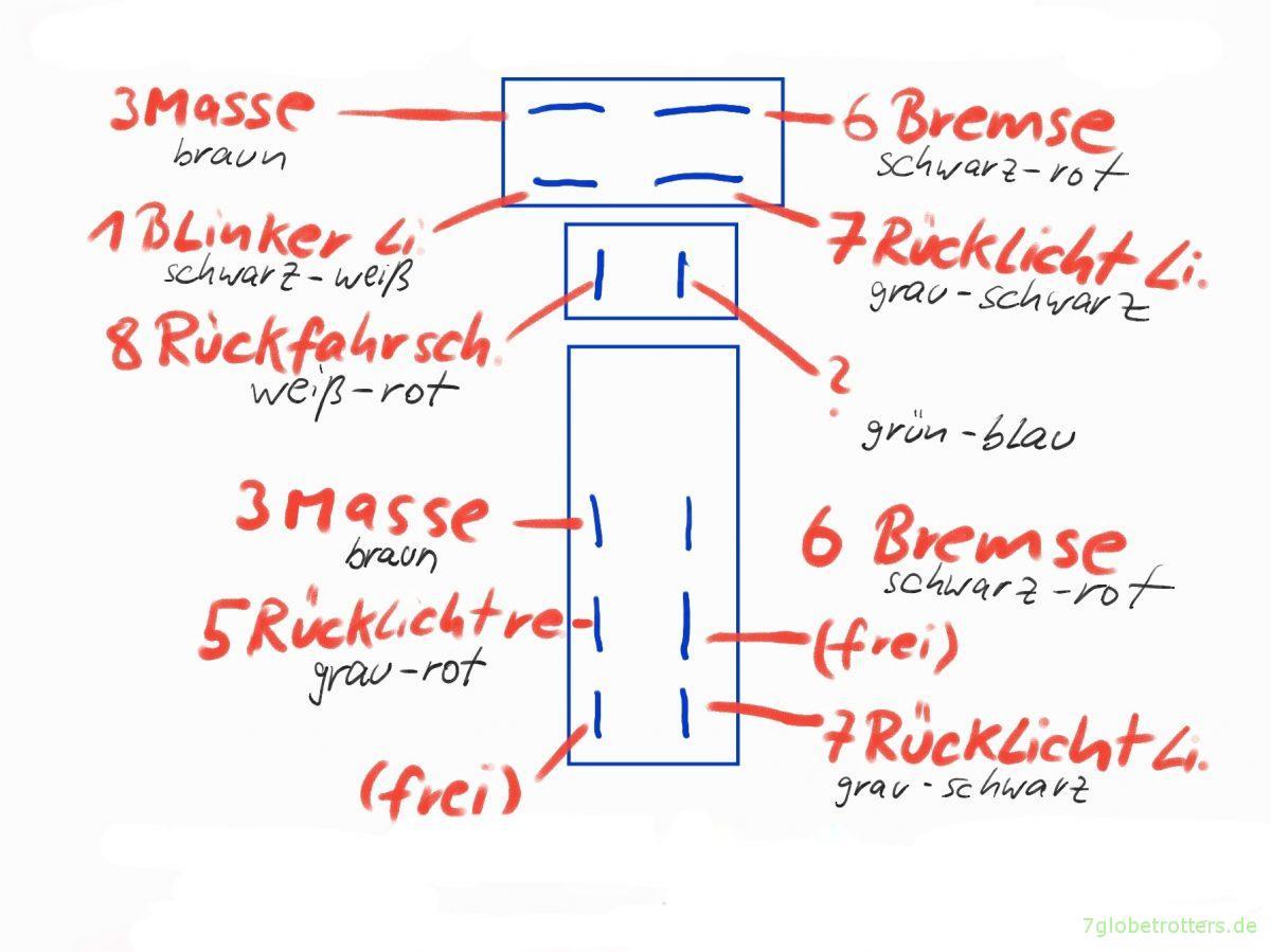 13 polige anh ngersteckdose am lkw mit wandler 24v 12v. Black Bedroom Furniture Sets. Home Design Ideas