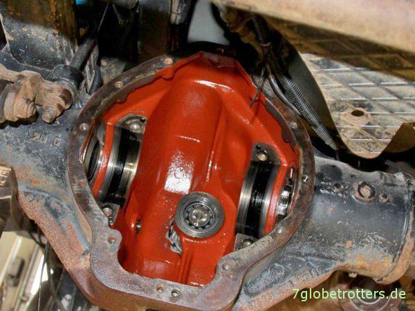 Funktion Differentialsperre, Verteilergetriebe, Nebenantrieb bei Mercedes Allrad-LKW