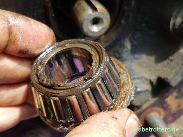 Vorderachse Mercedes T2/LN1 MB 711, Radlagerspiel prüfen, Radlager selber einstellen und fetten