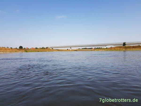 Kanutour Riesa - Torgau mit der Strömung, nur mit Fließgeschwindigkeit der Elbe