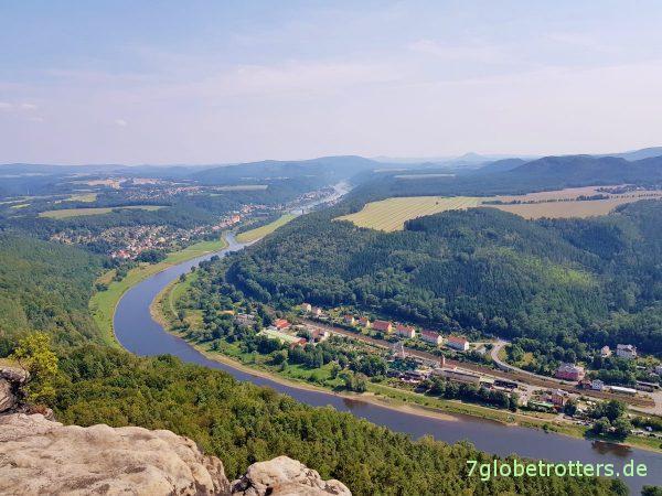 Wandern von Rathen über Kottesteig und Lottersteig zum Lilienstein und nach Königstein